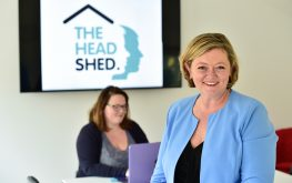 Pippa, the host at The Head Shed, a unique meeting space in wiltshire