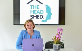 The host, Pippa in The Head Shed, a unique meeting space in wiltshire